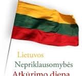 Kvietimas švęsti Lietuvos Nepriklausomybės atkūrimo dieną
