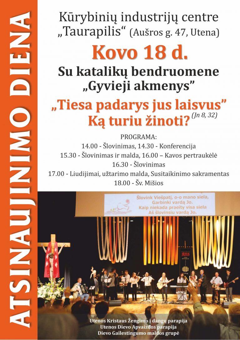 Pirmą kartą Utenoje – Atsinaujinimo diena!